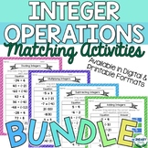 BUNDLE- Integer Operations Drag and Drop Matching Activiti
