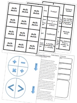 BUNDLE Integers and Rational Numbers Math Stations for Common Core Sixth Grade