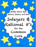 BUNDLE Integers and Rational Numbers Math Stations for Com