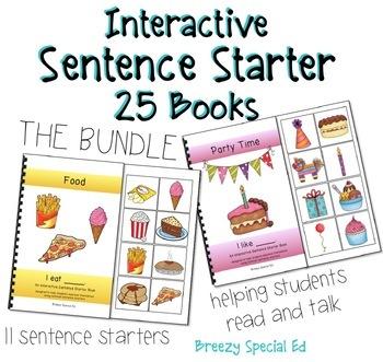 BUNDLE Interactive / Adapted Sentence Starter Books - spec