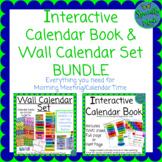 BUNDLE Interactive Calendar Notebook & Wall Calendar Set BTS colors months days