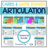 BUNDLE Interactive Speech Game Boards ALL YEAR and Articul