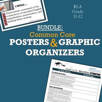 BUNDLE: Common Core Posters & Graphic Organizers ELA Grades 11-12