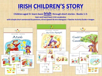 BUNDLE Irish Short Stories+Activity Guide+Audio+Images Beginners & Early Readers