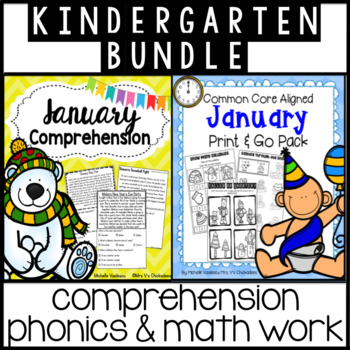 BUNDLE: January Comprehension and January Print & Go