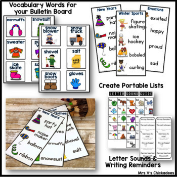 BUNDLE: January Writing Activities and Centers