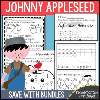 BUNDLE: Johnny Appleseed Activities