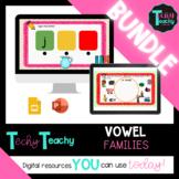 """BUNDLE*K-2nd Short Vowel """"U"""" Word Families Interactive Google Slides **DIGITAL**"""