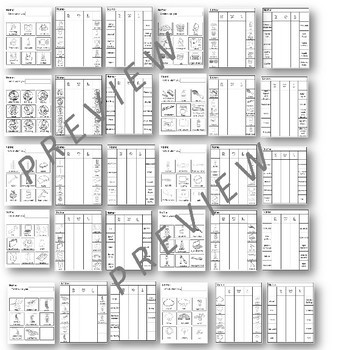 BUNDLE KWL Charts Themes and Adapted charts for Special Education