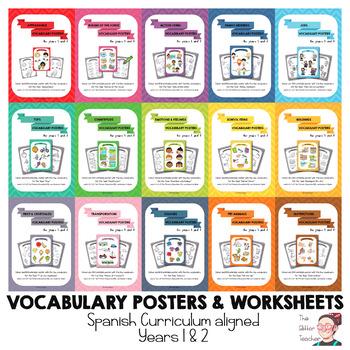 BUNDLE - Key vocabulary posters for Y1 & 2 ESL Spain