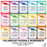 BUNDLE - Key vocabulary posters for Y3 & 4 ESL Spain