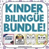 BUNDLE: Kinder Bilingue: Silabas, Palabras, Y Task Cards