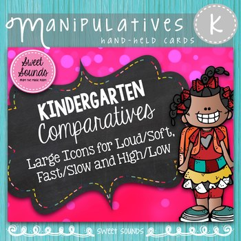 BUNDLE Kindergarten Music Comparatives Cards {Large and Small}