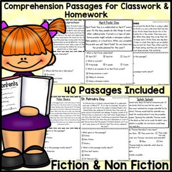 BUNDLE: Kindergarten & First Grade Comprehension for FEBRUARY THRU JUNE