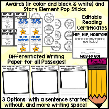 BUNDLE: Reading Comprehension Passages & Questions for February-June
