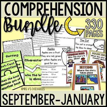 BUNDLE: Kindergarten & First Grade Comprehension for SEP THRU JAN