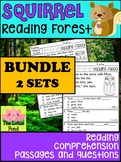 BUNDLE: Kindergarten First Grade Reading Comprehension - Reading Forest Squirrel