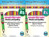 BUNDLE: Kindergarten Phonics and Spelling D'Nealian (Weeks