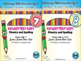 BUNDLE: Kindergarten Phonics and Spelling D'Nealian (Weeks 7-12)