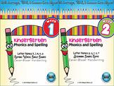 BUNDLE: Kindergarten Phonics and Spelling Zaner-Bloser (Weeks 1-6)