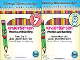BUNDLE: Kindergarten Phonics and Spelling Zaner-Bloser (Weeks 7-12)