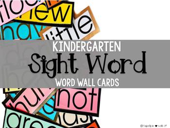 BUNDLE: Kindergarten Sight Word Assessment Sheets & Word Wall Cards