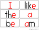 BUNDLE: Kindergarten Sight Word Assessment Sheets & Word W