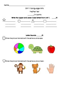 BUNDLE Kindergarten Treasures Unit Pre/Post Assessments
