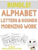 BUNDLE! Morning Work Kindergarten letters and sounds works