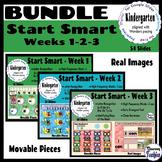 BUNDLE Kindergarten Wonders START SMART Weeks 1, 2, and 3 - Google Slides
