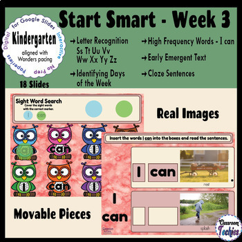 BUNDLE Kindergarten Wonders START SMART Weeks 1, 2, and 3 - Google Slides