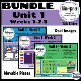 BUNDLE Kinder Wonders Unit 1-Weeks 1,2,3-Google Classroom