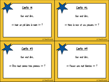 BUNDLE : LES EXPRESSIONS IDIOMATIQUES (Activité d'écriture et cartes à tâches)