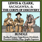 LEWIS AND CLARK & CORPS OF DISCOVERY - Reading Comprehension, Activities, Bingo