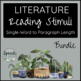 BUNDLE LITERATURE Printable Reading Cards for Adult Speech
