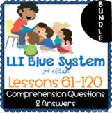 LLI BLUE Comprehension Lessons 61 - 120 BUNDLE