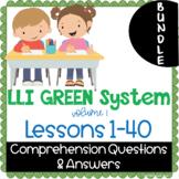 LLI GREEN Kit Comprehension Lessons 1 - 40 BUNDLE