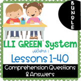 BUNDLE - LLI Green System - Comprehension Questions + Answ