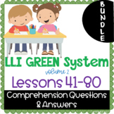 BUNDLE - LLI Green System - Comprehension Questions + Answ