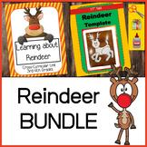 BUNDLE:  Learning about Reindeer Cross-Curricular Unit PLUS Reindeer Template