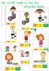 BUNDLE: Leisure time sentences photo/clipart writing using colorful semantics