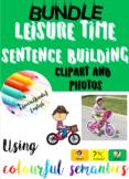 BUNDLE: Leisure time sentences photo/clipart writing using