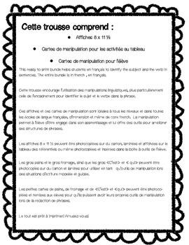 Manipulations linguistiques- En français / French