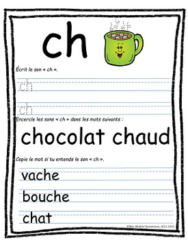 "BUNDLE ""Les sons"" - Posters and Worksheets to Learn Common French Sounds"