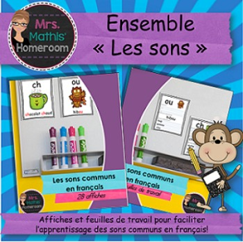 """BUNDLE """"Les sons"""" - Posters and Worksheets to Learn Common"""