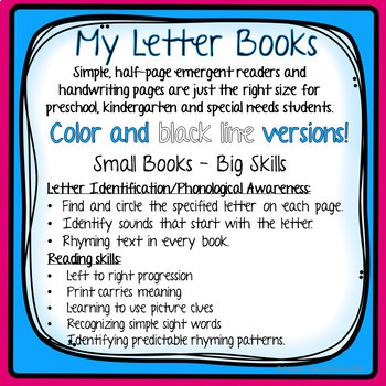Letter Books with Handwriting Practice Mega Bundle HWT