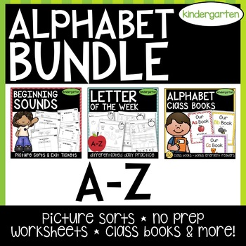 BUNDLE -- Picture Sorts and Worksheets [letter sounds, rec