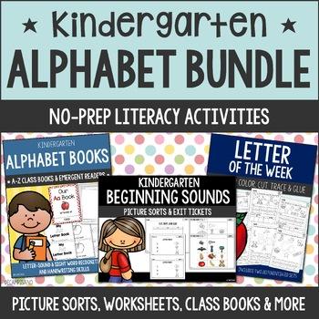 BUNDLE -- Picture Sorts and Worksheets [letter sounds, rec