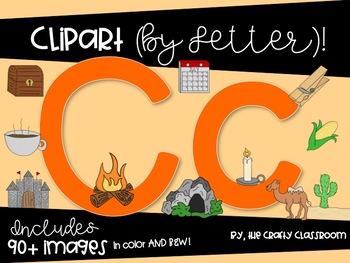 BUNDLE Letters A-C Digital Clipart
