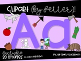 BUNDLE Letters A-C Digital Clipart